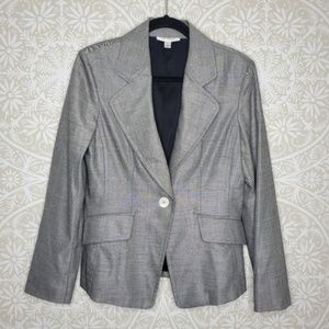 St. John Silver Grey Fitted Career Blazer 6